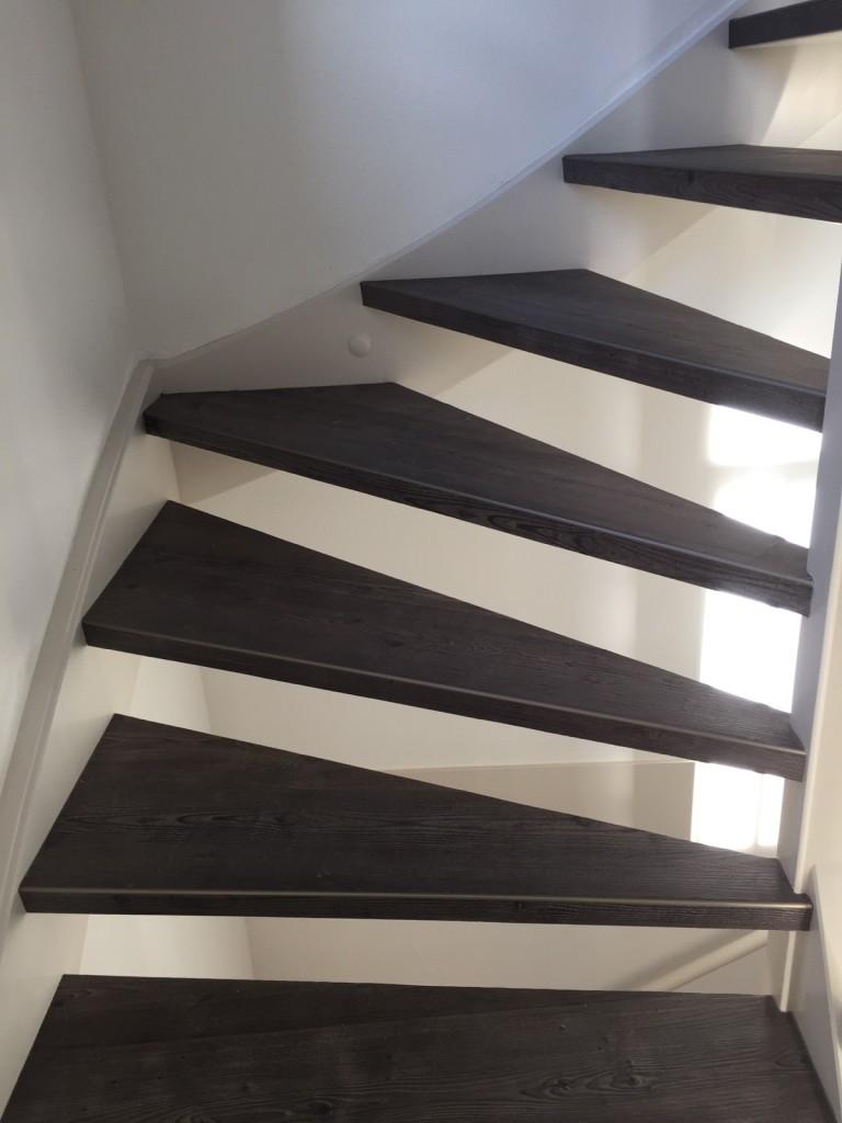 PVC vloer trap renovatie